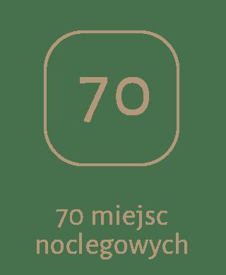 70 miejsc noclegowych